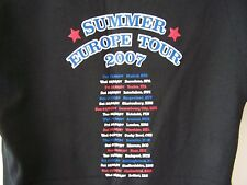 NEW THE KILLERS 2007 EUROPE TOUR OFFICIAL MERCHANDISE T SHIRT S M L XL