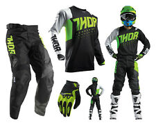 Thor Pulse Active Motocross Combo with Cross pants Jersey Gloves lime black
