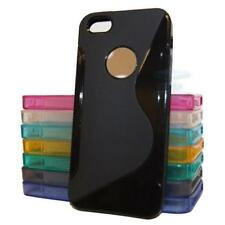 Hybird TPU Silicone Gel Skin Case Cover, S-Line Sline Wave For iPhone 5, 5S, SE