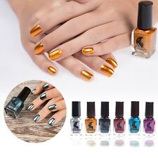 20Colors Nail Polish Mirror Effect Chrome Metallic Nail Art Varnish Polish Durab