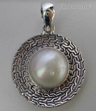 Mabe Pearl Solid Silver, 925 Bali Handcrafted Pendant 27038