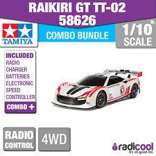 COMBO KIT! 58626 TAMIYA RAIKIRI GT TT-02 R/C KIT RADIO CONTROL CAR 1/10th SCALE