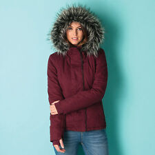 Womens Bench Kidder Iii Jacket In Burgundy From Get The Label