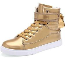 New Men's Sneakers High Top Boots Flats Lace Up Sports Casual Shoes Trainers @@