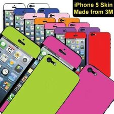 Solid Colour Decal Skin Sticker Kit for iPhone 5 Made from 3M Cast Vinyl - Matte