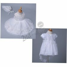 Infant Baby Girl Christening Wedding Party Formal Tutu Dress Embroidered Baptism