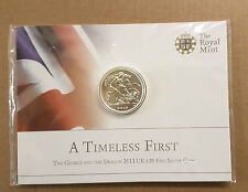 (Pa2) 2013 Fine 999 Silver £20 twenty pound coin George and the Dragon -15.7g