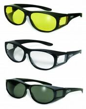 Escort Motorcycle Safety Sunglasses FIT OVER PRESCRIPTION RX GLASSES Fitover NWT