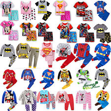 Children Kids Boys Girls Cartoon Sleepwear Baby Nightwear Pj's Pyjamas Set 0-8 Y