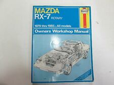 1979 thru 1985 Haynes Mazda RX-7 RX7 Rotary Owners Workshop Manual MINOR WEAR