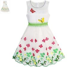 Sunny Fashion Girls Dress Butterfly Party Birthday Sundress Age 5-12 Years