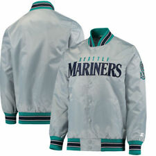 Seattle Mariners Starter MLB Mens Start The Closer Full Snap  Jackets - Gray