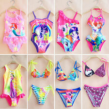 Girls Kids Toddlers Swimwear Bikini Tankini Swimsuit Swimming Costume Set 2-10Y