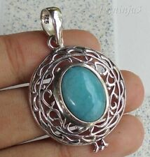 Gemstone Solid Silver, 925 Bali Handcrafted Pendant 31498