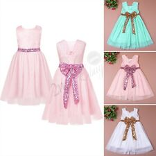 Baby Girl Flower Tutu Dress Sleeveless Princess Pageant Wedding Party Bridesmaid