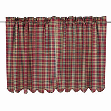 Graham Tiers Pair in Crimson, Army Green and Biscotti Plaid, Choice of Two Sizes