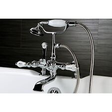 Deck-mount Chorme Clawfoot Tub Faucet with Hand Shower