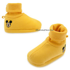 Mickey Mouse Face Yellow BABY Costume Dress Up SHOES SLIPPERS Disney Store NEW