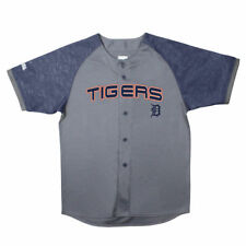 Detroit Tigers Stitches Youth Glitch Jersey - Charcoal/Navy - MLB
