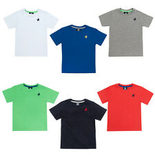 Boys T-shirt Plain With Polo Player Motif To Chest Six Colours 2-3 To 13 Years