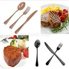 3pcs Stainless Steel Flatware Set Knife Fork Spoon Table Serve Cutlery Chic Gift
