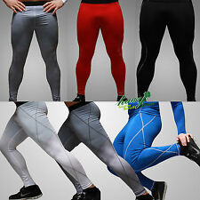 Men Sports Apparel Skin Tights Compression Base Under Layer Long PantsTrousers