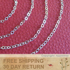 Sterling Silver Chain 2mm Italian cable sold by the foot in bulk making necklace