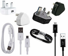 USB Mains Plug Home Wall Charger & Data Cable Lead For Samsung Galaxy Phones/Tab