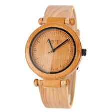Couple Wood Wristwatch Bamboo Wooden Watch Bracelet Bangle Quartz Watches H2R7