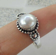 Mabe Pearl Gemstone Solid Silver, 925 Balinese Ring 38133