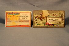 2 Fox & Fulmer Jewelers Easton PA Victorian Advertising Trade Card / Boss Cases