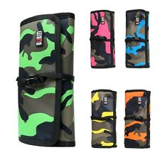 Portable Roll Up Folding Travel Organizer Bag Case for Electronics Accessories