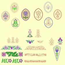 Heirloom Flowers Machine Embroidery & Redwork-42 Designs-by Anemone Embroidery