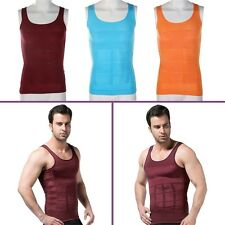 Men's Slimming Vest Top Slim Shirt Chest Belly Control Body Shapers S-XXL A#