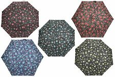 Drizzles Ladies Floral Print Supermini Crook Handle Umbrella