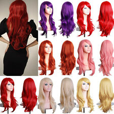 Lady Fancy Dress Full Wig Cosplay Party Long Curly Hair Synthetic Highlight Wigs