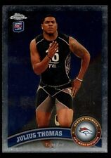 JULIUS THOMAS MINT MIAMI DOLPHINS ROOKIE CARD 92 BRONCOS RC SP 2011 TOPPS CHROME