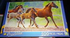 500 PIECE JIGSAW PUZZLE - WILD HORSES ON THE RUN  ( NEW )