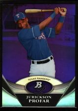 JURICKSON PROFAR RANGERS ROOKIE PURPLE REFRACTOR RC 2011 BOWMAN PLATINUM CHROME