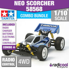 COMBO DEAL! 58568 TAMIYA NEO SCORCHER 4WD BUGGY 1/10th R/C RADIO CONTROL BUGGY
