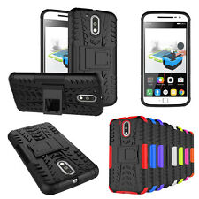 Hybrid Shockproof Hard Tyre Tire Rubber Case Cover Skin Stand for Motorola Phone