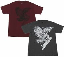 DC Shoes Mens YC Woodpusher Tee Shirt Eagle Hawk Skateboard T-shirt New