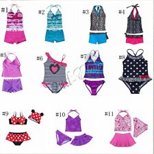 Girls Kids Tankini Set Swimwear Bikini Swimsuit Swimming Costume Bathing Suit