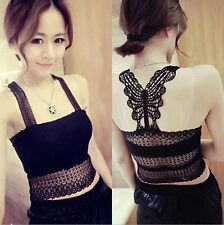 Women Fashion Sexy Lace Shirts Vest Tube Tops Wrapped Chest Halter Tops Camisole