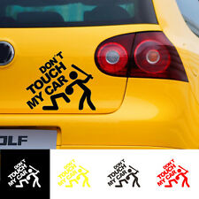 1Pc 'Don't Touch My Car' Vehicle Random Body Motorcycle Car Auto Stickers Decals