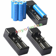 6x 3.7V 18650 GTL Li-ion 5000mAh Rechargeable Battery For Flashlight +3x Charger