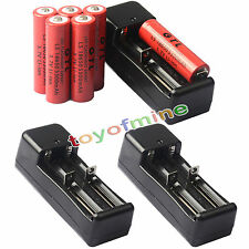 6x 3.7V 18650 GTL Li-ion 5300mAh Rechargeable Battery -LED Flashlight+3x Charger