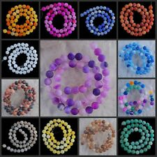 """V1178-1191 8mm Wholesale Fire Agate Ball Loose Beads 14.5"""""""