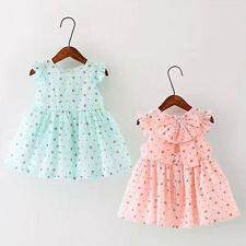 Toddler Infant Kids Baby Girls Summer Casual Dress Princess Party Bow Dresses