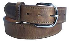 Distressed Brown Boot Leather Belt 1 1/2'' up to 46'' waist